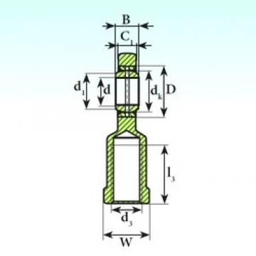 20 mm x 35 mm x 16 mm  ISB SI 20 ES 2RS plain bearings