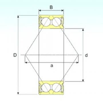 70 mm x 150 mm x 63,5 mm  ISB 3314-2RS angular contact ball bearings