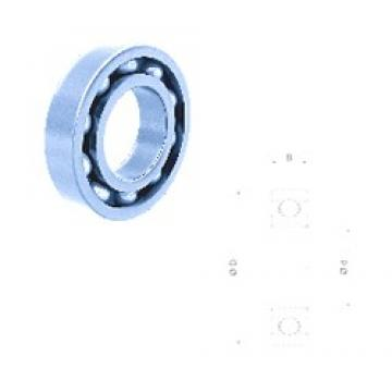 20 mm x 42 mm x 12 mm  Fersa 6004-2RS deep groove ball bearings