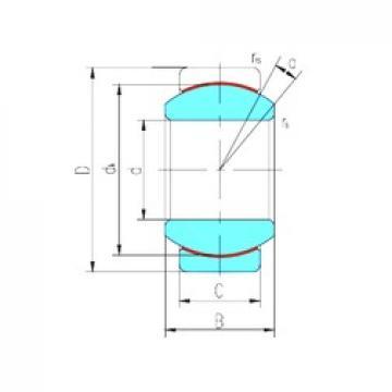20 mm x 35 mm x 16 mm  LS GE20ET-2RS plain bearings