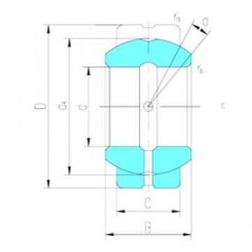 20 mm x 35 mm x 16 mm  LS GE20ES plain bearings