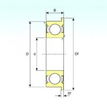 3,175 mm x 9,525 mm x 3,967 mm  ISB FR2ZZ deep groove ball bearings