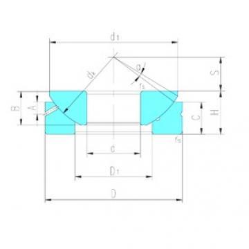180 mm x 320 mm x 74 mm  LS GX180S plain bearings