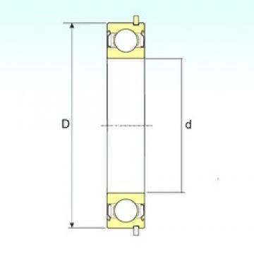 20 mm x 42 mm x 12 mm  ISB 6004-ZZNR deep groove ball bearings