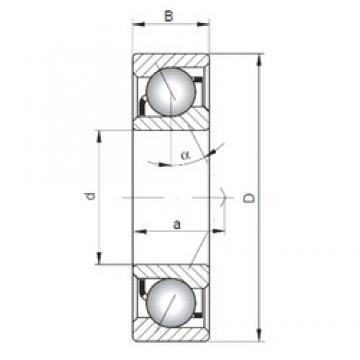 65 mm x 100 mm x 18 mm  Loyal 7013 C angular contact ball bearings