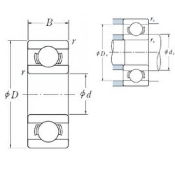 3,175 mm x 9,525 mm x 3,967 mm  NSK R 2 deep groove ball bearings