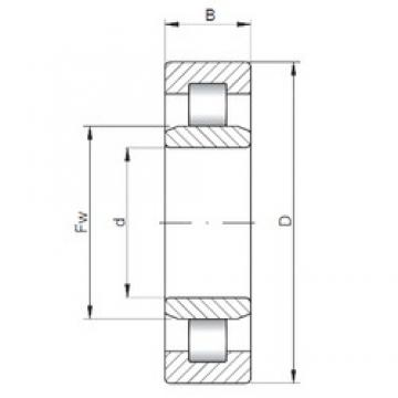 180 mm x 320 mm x 86 mm  ISO NU2236 cylindrical roller bearings