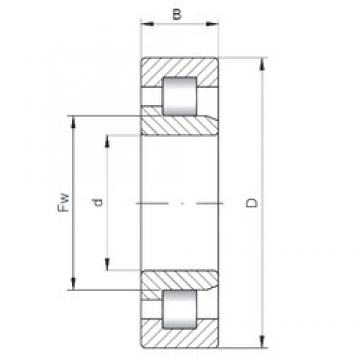 180 mm x 320 mm x 86 mm  Loyal NJ2236 E cylindrical roller bearings