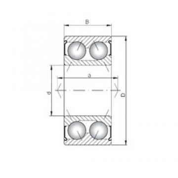 Loyal 3303 ZZ angular contact ball bearings