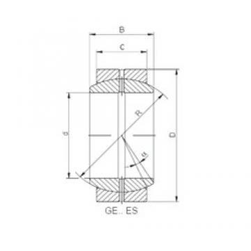 20 mm x 35 mm x 16 mm  Loyal GE 020 ES plain bearings