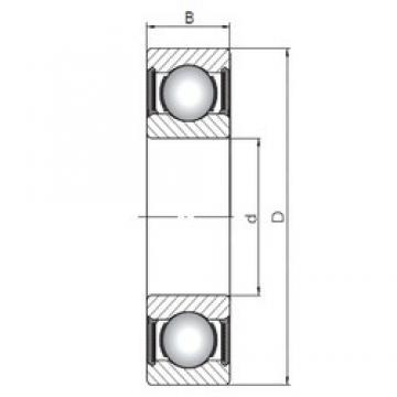 70 mm x 150 mm x 63,5 mm  ISO 63314-2RS deep groove ball bearings