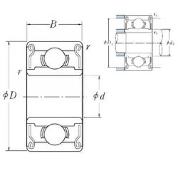 3,175 mm x 9,525 mm x 3,967 mm  NSK R 2 ZZ deep groove ball bearings