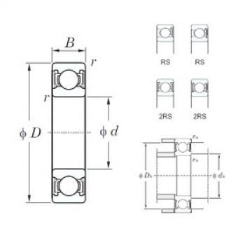65 mm x 100 mm x 18 mm  KOYO 6013-2RS deep groove ball bearings