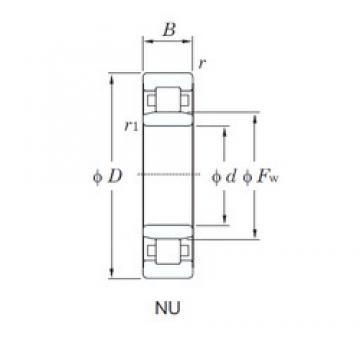180 mm x 320 mm x 86 mm  KOYO NU2236R cylindrical roller bearings