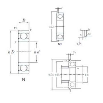 65 mm x 100 mm x 18 mm  KOYO 6013N deep groove ball bearings
