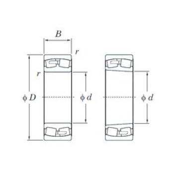 180 mm x 320 mm x 86 mm  KOYO 22236RK spherical roller bearings