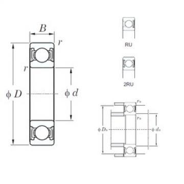 65 mm x 100 mm x 18 mm  KOYO 6013-2RU deep groove ball bearings