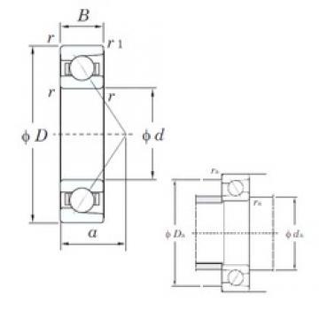 65 mm x 100 mm x 18 mm  KOYO 7013 angular contact ball bearings