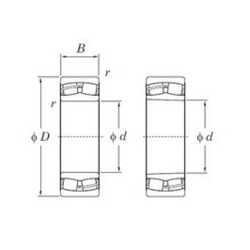 120 mm x 200 mm x 62 mm  KOYO 23124RHK spherical roller bearings