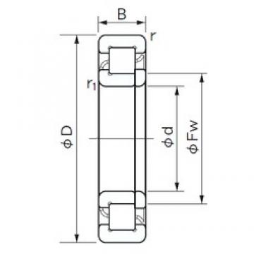 180 mm x 320 mm x 86 mm  NACHI NUP 2236 E cylindrical roller bearings