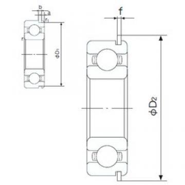 65 mm x 100 mm x 18 mm  NACHI 6013NR deep groove ball bearings