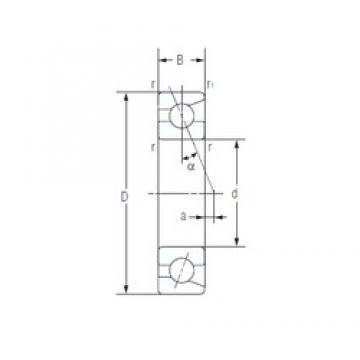 65 mm x 100 mm x 18 mm  NACHI 7013C angular contact ball bearings