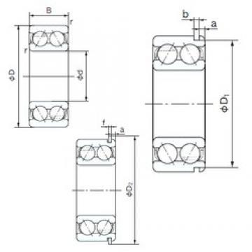17 mm x 47 mm x 22.2 mm  NACHI 5303NR angular contact ball bearings