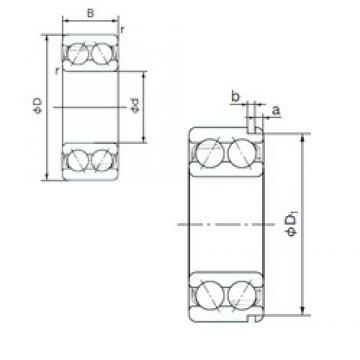 17 mm x 47 mm x 22.2 mm  NACHI 5303N angular contact ball bearings