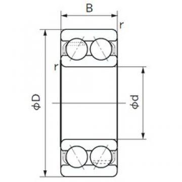 17 mm x 47 mm x 22.2 mm  NACHI 5303 angular contact ball bearings