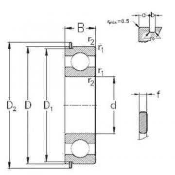 65 mm x 100 mm x 18 mm  NKE 6013-Z-N deep groove ball bearings
