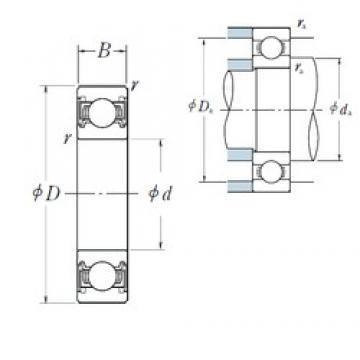 65 mm x 100 mm x 18 mm  NSK 6013VV deep groove ball bearings