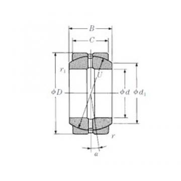 20 mm x 35 mm x 16 mm  NSK 20FSF35 plain bearings