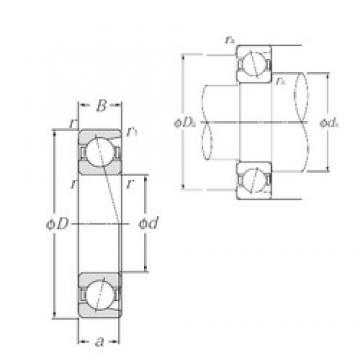 65 mm x 100 mm x 18 mm  NTN 7013 angular contact ball bearings
