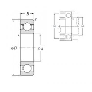 65 mm x 100 mm x 18 mm  NTN 6013 deep groove ball bearings