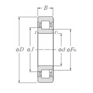 180 mm x 320 mm x 86 mm  NTN NJ2236E cylindrical roller bearings