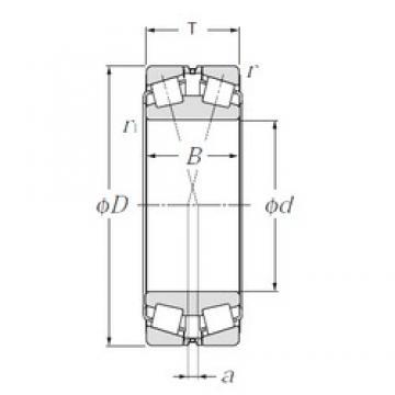 120 mm x 200 mm x 62 mm  NTN 323124 tapered roller bearings