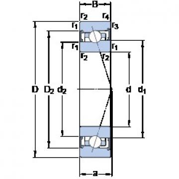 35 mm x 62 mm x 14 mm  SKF S7007 CB/P4A angular contact ball bearings