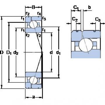 35 mm x 62 mm x 14 mm  SKF 7007 CE/HCP4AL1 angular contact ball bearings