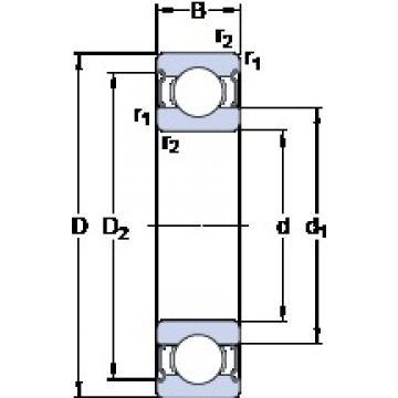 65 mm x 120 mm x 23 mm  SKF 6213-2Z/VA201 deep groove ball bearings
