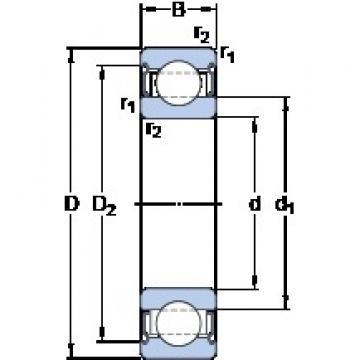 65 mm x 120 mm x 23 mm  SKF 6213-2Z/VA208 deep groove ball bearings