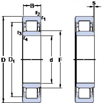 65 mm x 120 mm x 23 mm  SKF NU 213 ECM/C3VL0241 cylindrical roller bearings