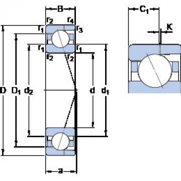 35 mm x 62 mm x 14 mm  SKF 7007 CD/HCP4AH angular contact ball bearings