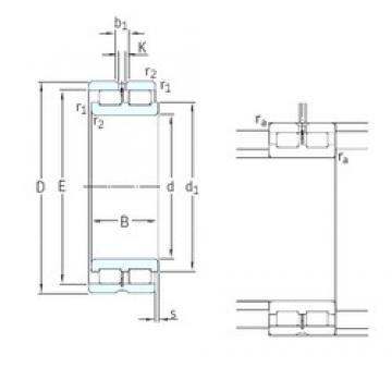380 mm x 520 mm x 140 mm  SKF NNCL4976CV cylindrical roller bearings