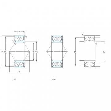 17 mm x 47 mm x 22,2 mm  SKF 3303A-2Z angular contact ball bearings