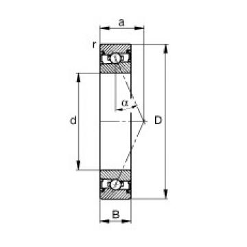 65 mm x 100 mm x 18 mm  FAG HSS7013-E-T-P4S angular contact ball bearings