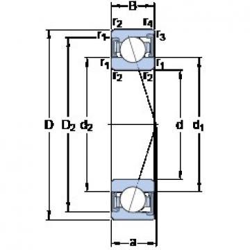 35 mm x 62 mm x 14 mm  SKF S7007 ACD/HCP4A angular contact ball bearings