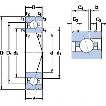 35 mm x 62 mm x 14 mm  SKF 7007 CE/P4AL angular contact ball bearings