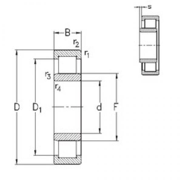180 mm x 320 mm x 86 mm  NKE NU2236-E-M6 cylindrical roller bearings #1 image