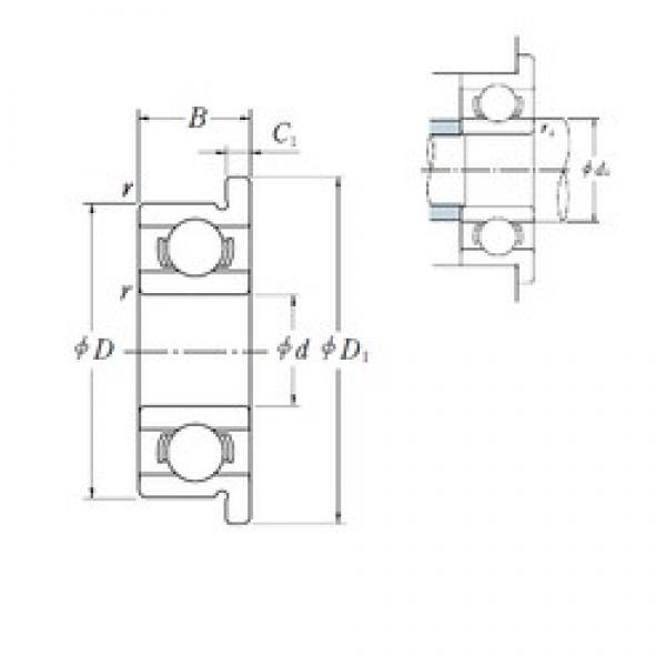 3,175 mm x 9,525 mm x 3,967 mm  ISO FR2 deep groove ball bearings #1 image